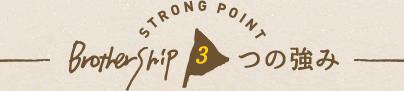 ブラザシップ3つの強み